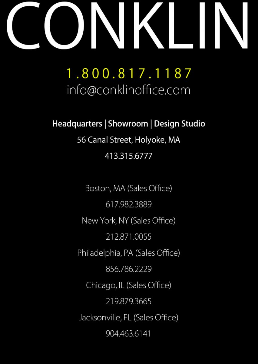 Conklin Office Furniture Locations   NY, IN, MA, NJ Used Office Furniture   Conklin  Office Furniture