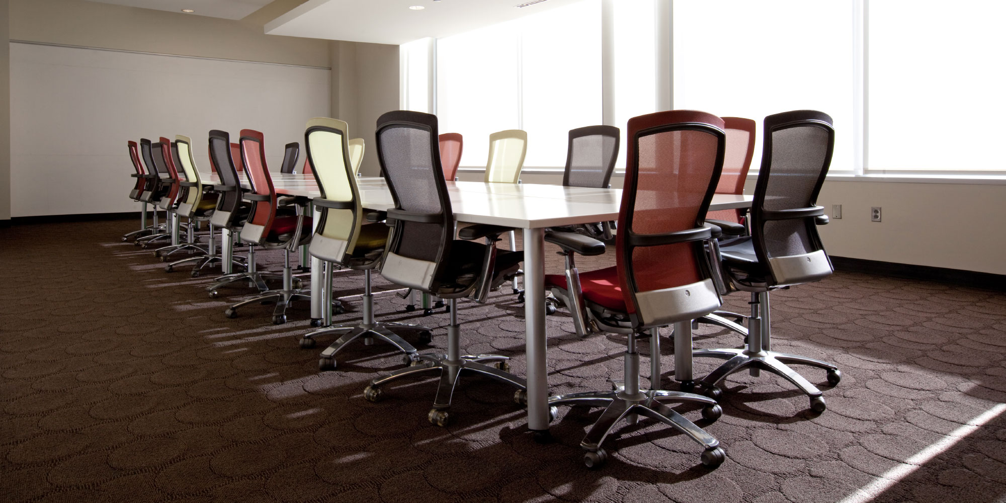 Used conference chairs and conference table