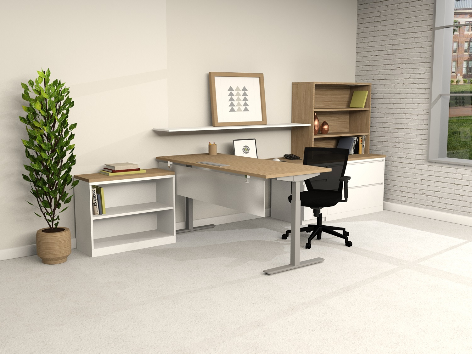 Manufacturer:Conklin Office Furniture. Qty: B6006   Eco New | Sit/Stand  Height Adjustable Desk