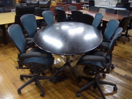 Black Wood Conference Table TC Conklin Office Furniture - 7 ft conference table