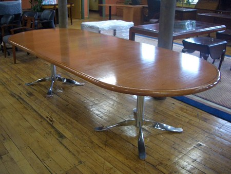 eco-conscious refinished conference table - 10 foot conference table