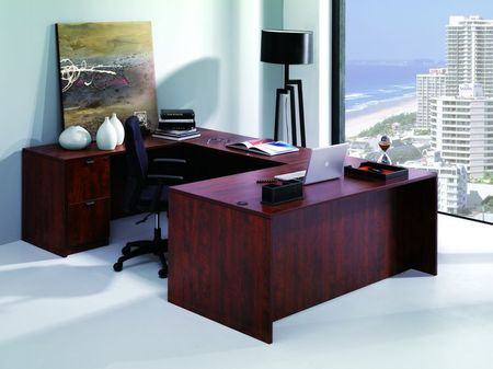 cherry laminate u-shape desks | nd3103 - conklin office furniture