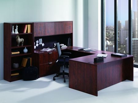 ND3104 - Laminate Desk Set with Bookcase