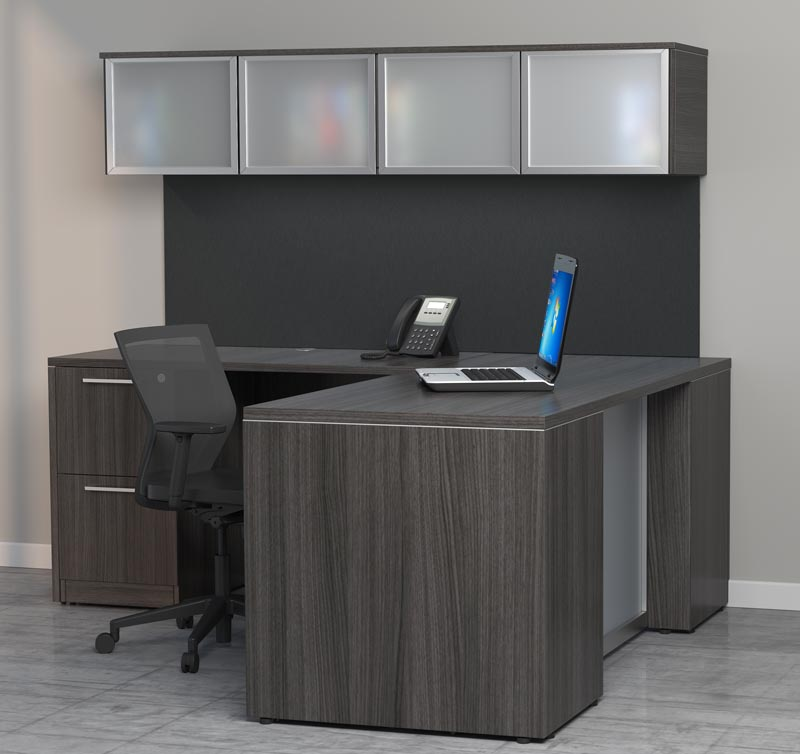 D12144 - Skyline Deluxe L-Shape Desk