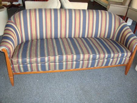 Multi Colored Striped Sofa Conklin Office Furniture