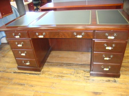 Kimball double pedestal desk set conklin office furniture - Kimball office desk ...