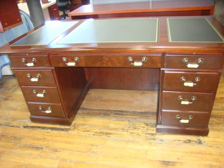 Kimball double pedestal desk set conklin office furniture - Kimball office desk ...