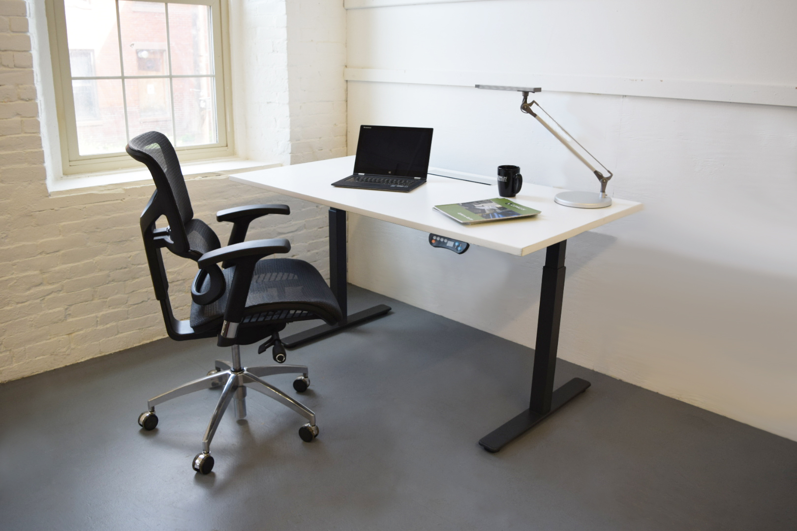Eco New Sit Stand Height Adjustable Desk B6006