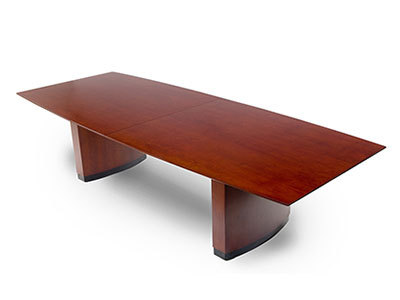 Boat Shaped Conference Tables Cherry Veneer Finish Used