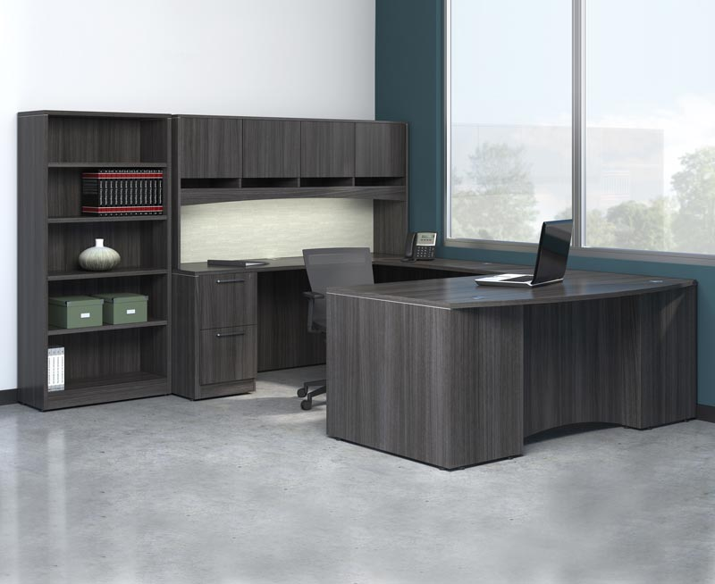 D12145 - Skyline Deluxe U-Shape Desk
