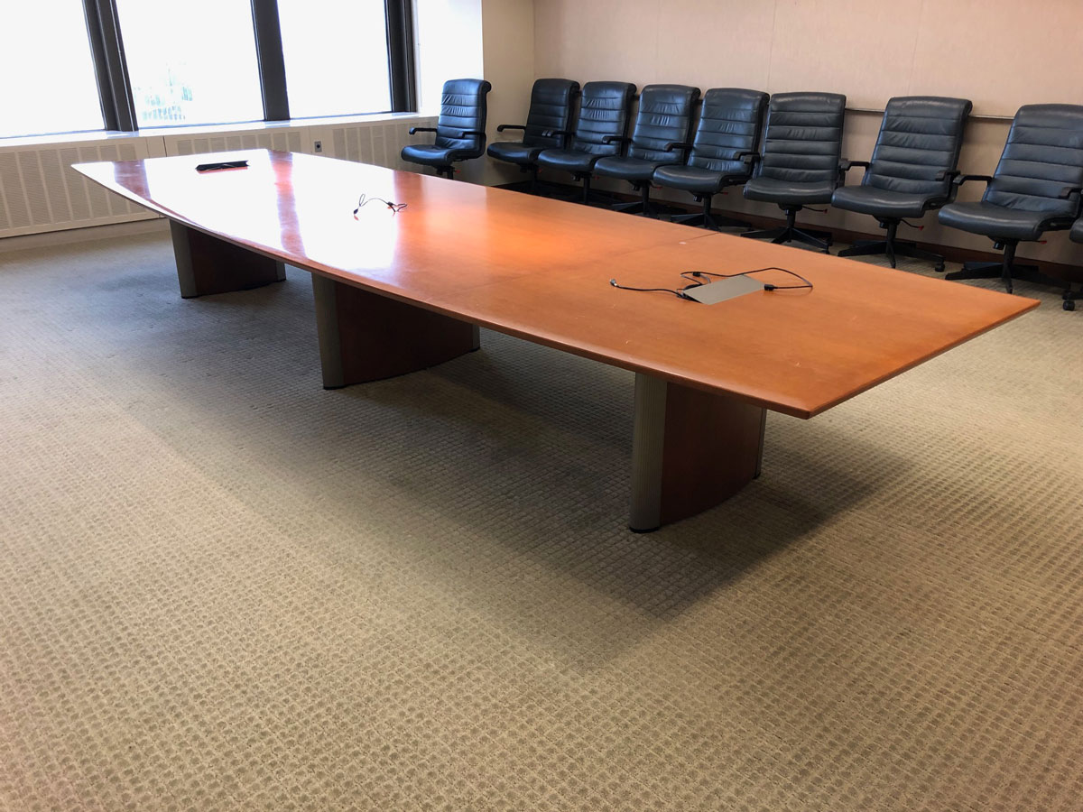 T12121 - Neinkamper Conference Table and Credenza Set