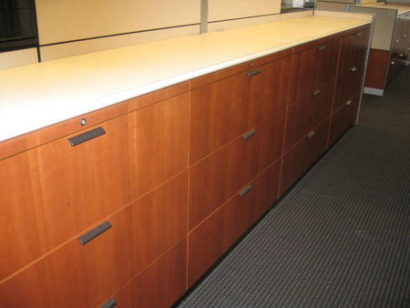 F037 - Wood Front Steelcase Laterals