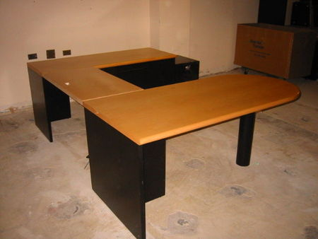 Maple U Shape Desk Sets Conklin Office Furniture