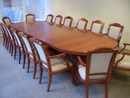 Traditional Conference Table With Chairs Conklin Office Furniture - Traditional conference table