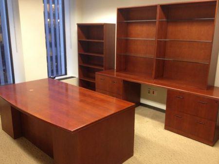 d3337 bernhardt executive desk set