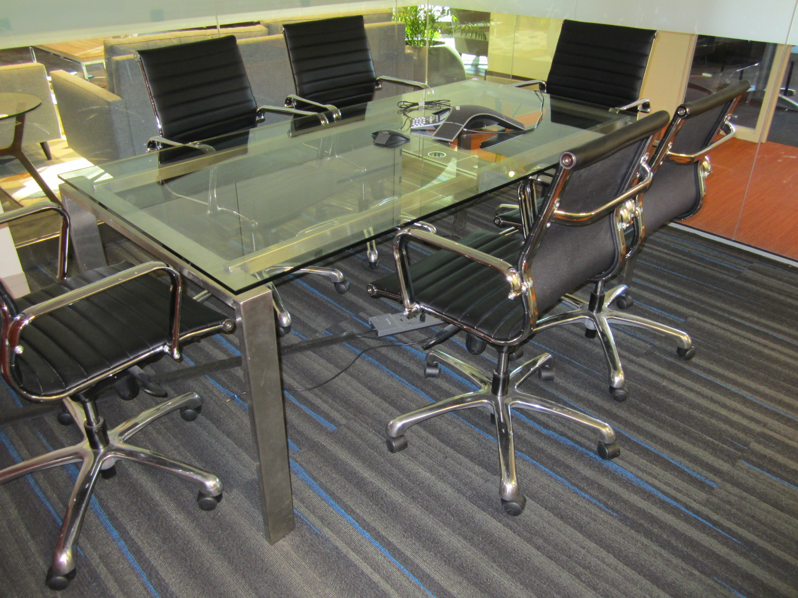 T12124C - Glass Meeting Table