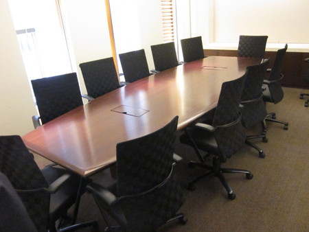 Conference Table With Data Ports For Sale Used Conference Table - 12 foot conference table with data ports