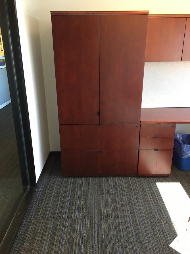 Cherry Gunlocke Medley Desk Sets D12041c Conklin