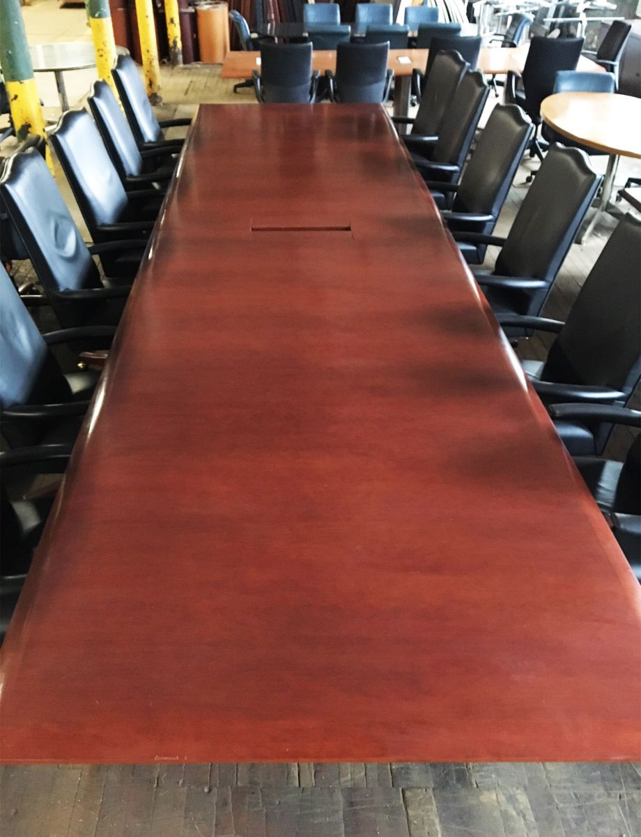 Ft Veneer Conference Table Dark Cherry Conklin Office Furniture - 18 ft conference table
