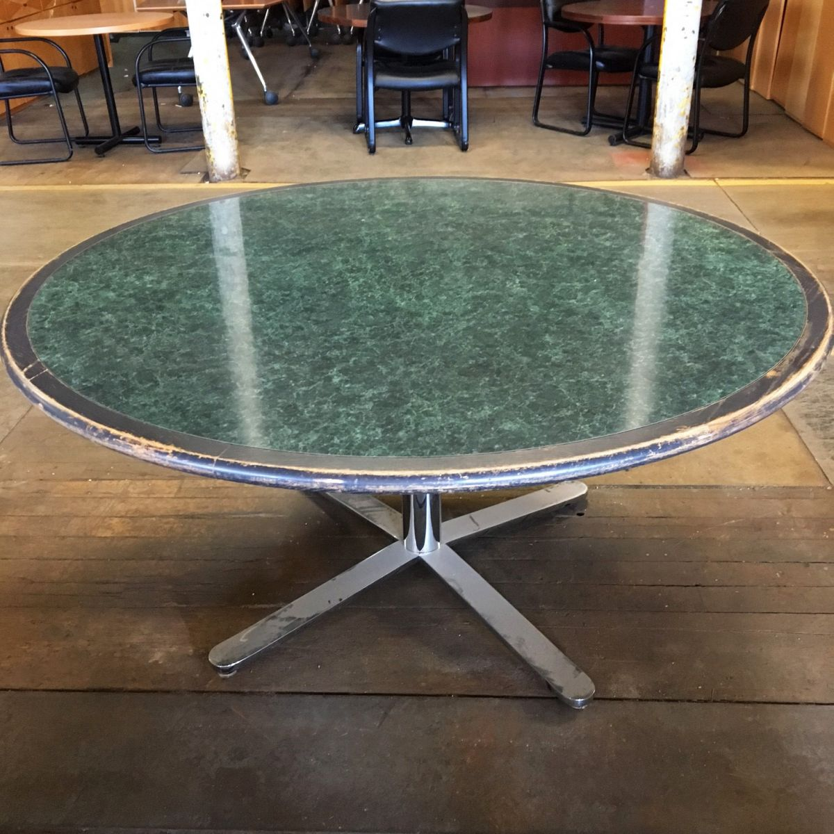 Round Wood And Laminate Conference Table TC Conklin - 60 round conference table