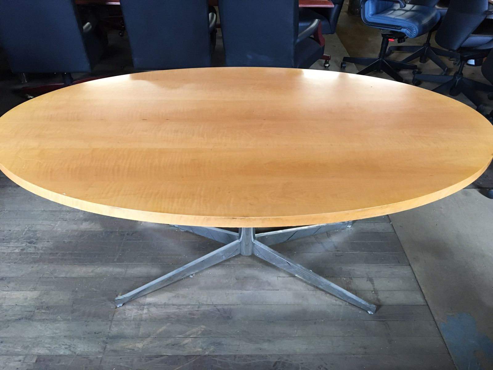 Ft Wood Veneer Conference Table Light Cherry Conklin Office - 6ft conference table