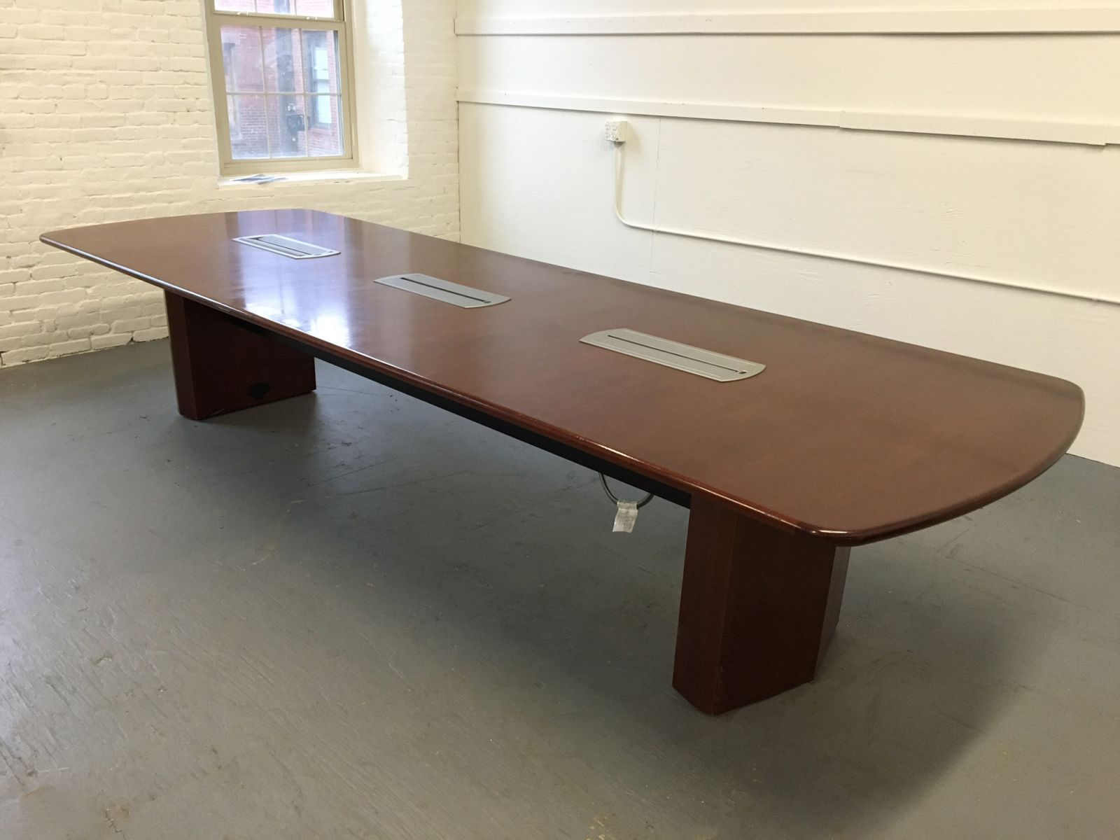 X Mahogany Conference Table Conklin Office Furniture - Rectangular conference room table