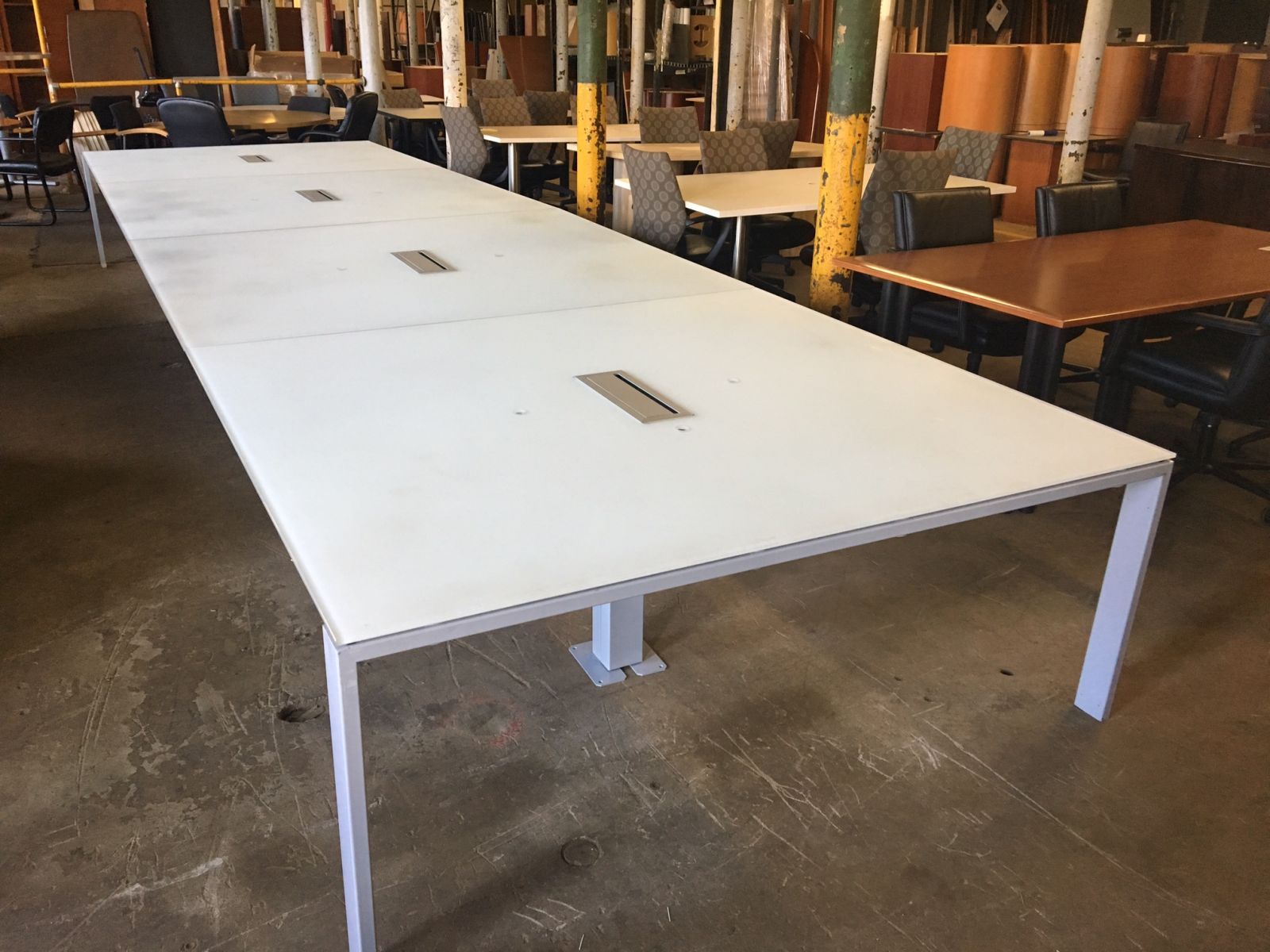 21 Ft Glass Conference Table