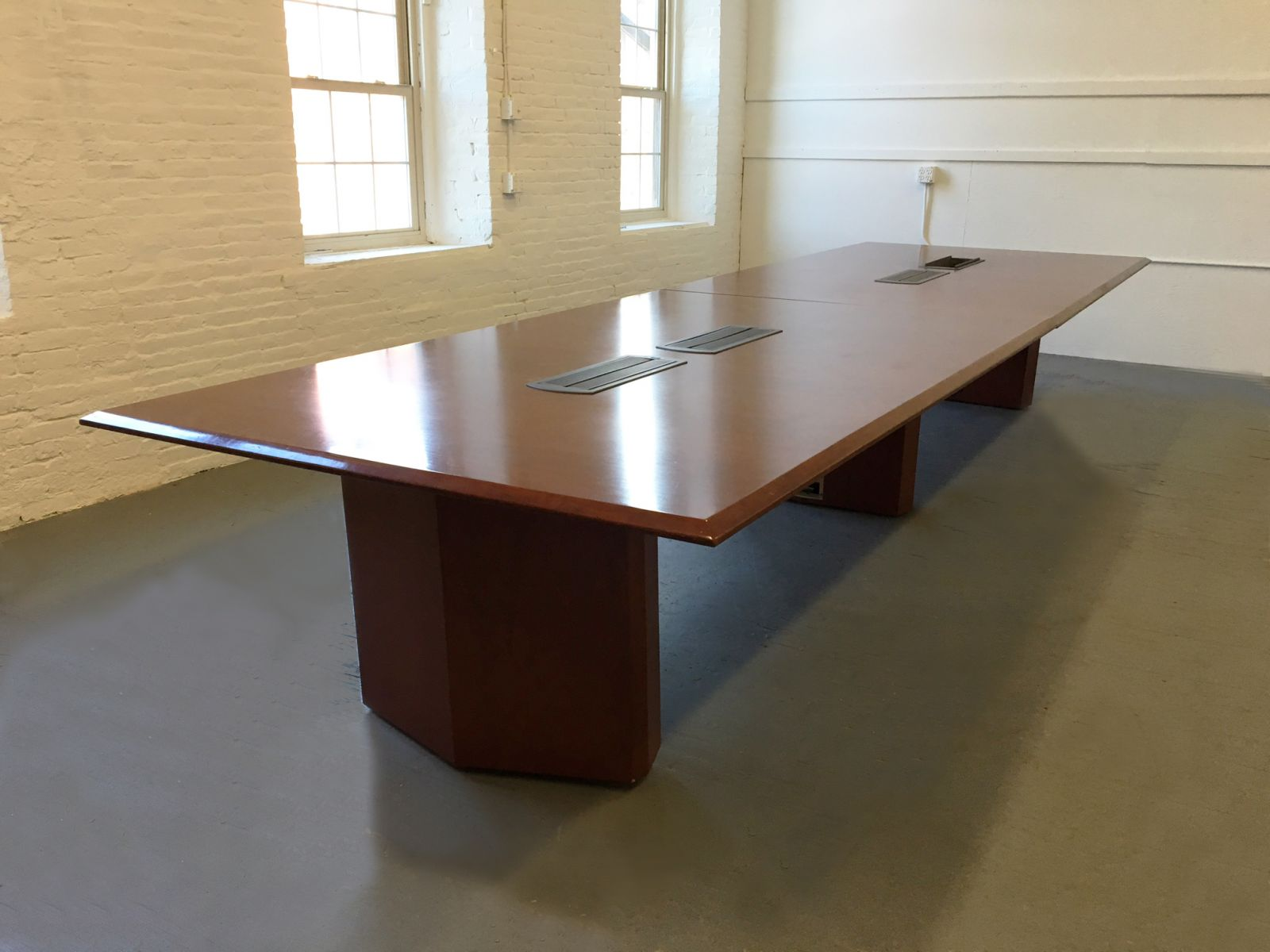 16u0027 X 5u0027 Conference Table By Vecta   Dark Cherry