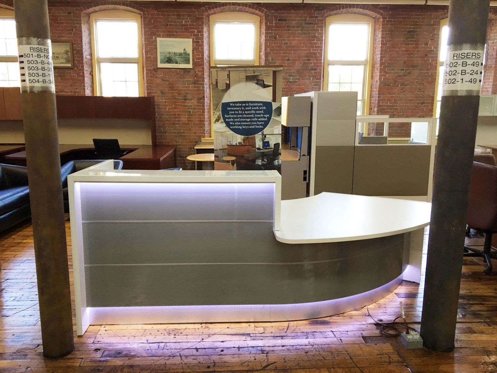 Valde LED Laminate Reception Station by MDD - New - Conklin
