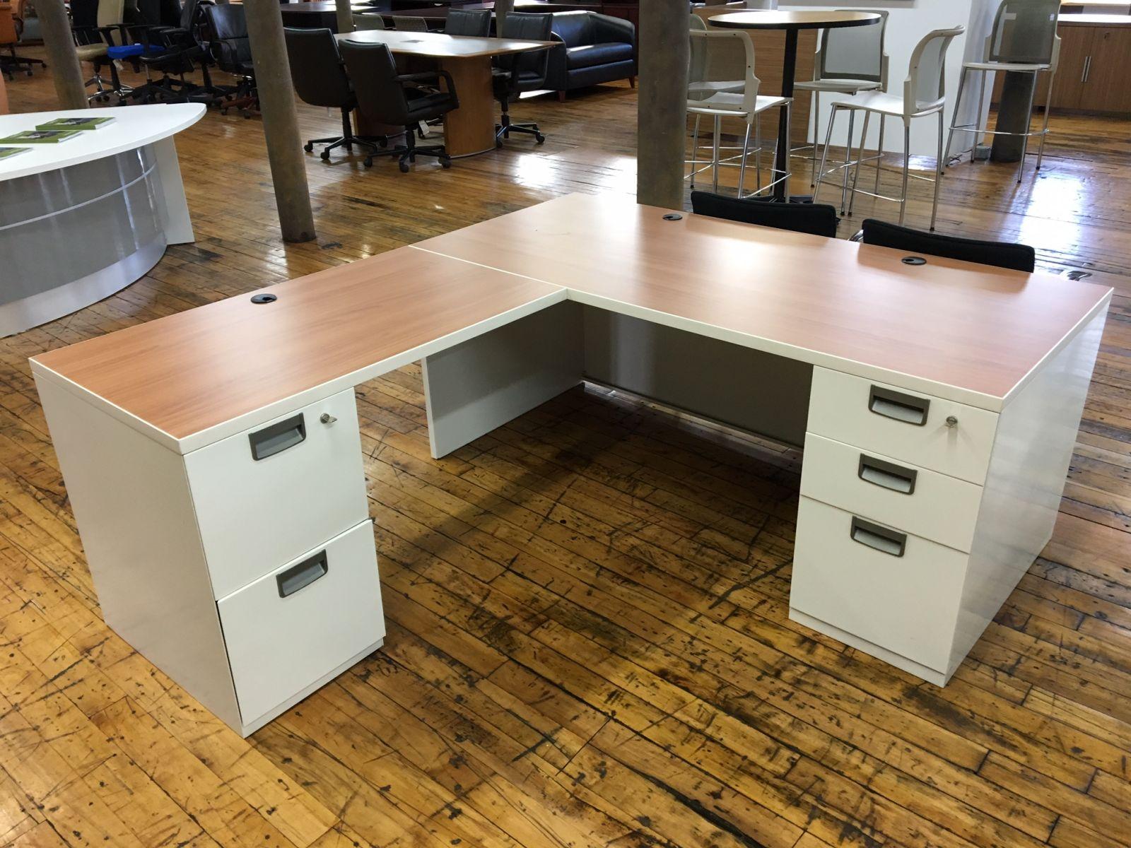 Steelcase L Desk Remanufactured D12019 Conklin