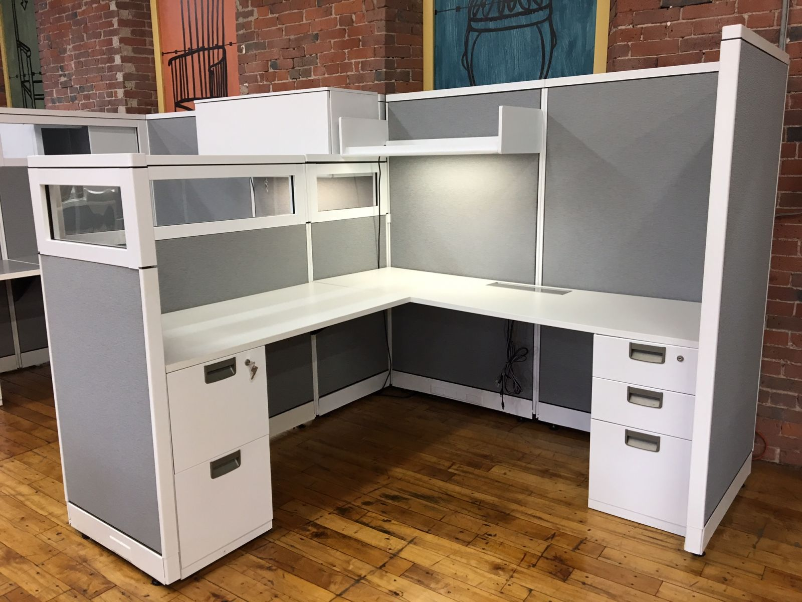 W6090   Steelcase Avenir Workstations   Remanufactured