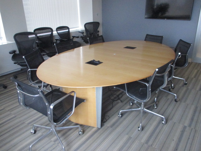 9\' Oval Meeting Table | T12143 - Conklin Office Furniture