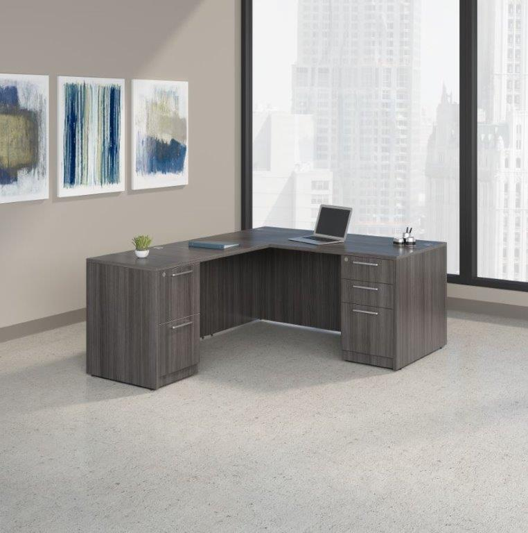 D12141 - Skyline L-Shape Desk Sets