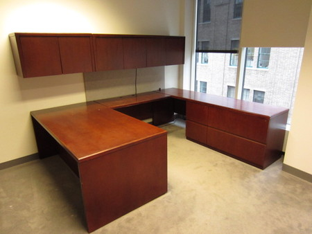 Kimball Cherry Desk Sets Conklin Office Furniture - Kimball office furniture
