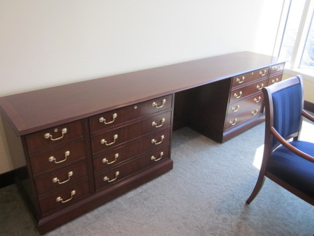 Ball And Claw Detail On Councill Desk Large Credenza