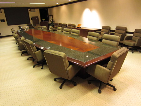 t2879 24u0027 marble conference table with matching credenzas