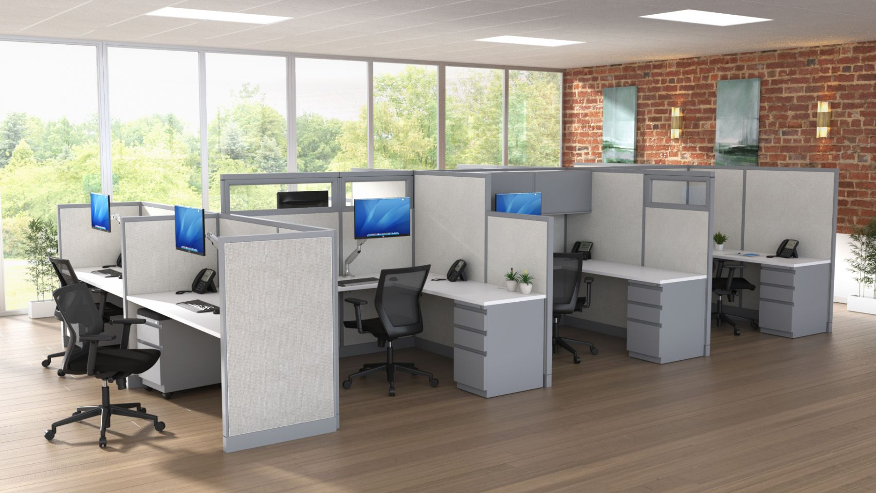 Steelcase Avenir Quick Ship Cubicles W6115 Conklin