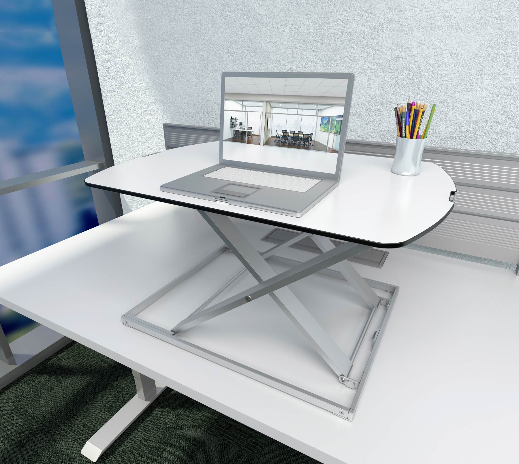 B6010 - The Rise Non-Powered Height Adjustable Desk