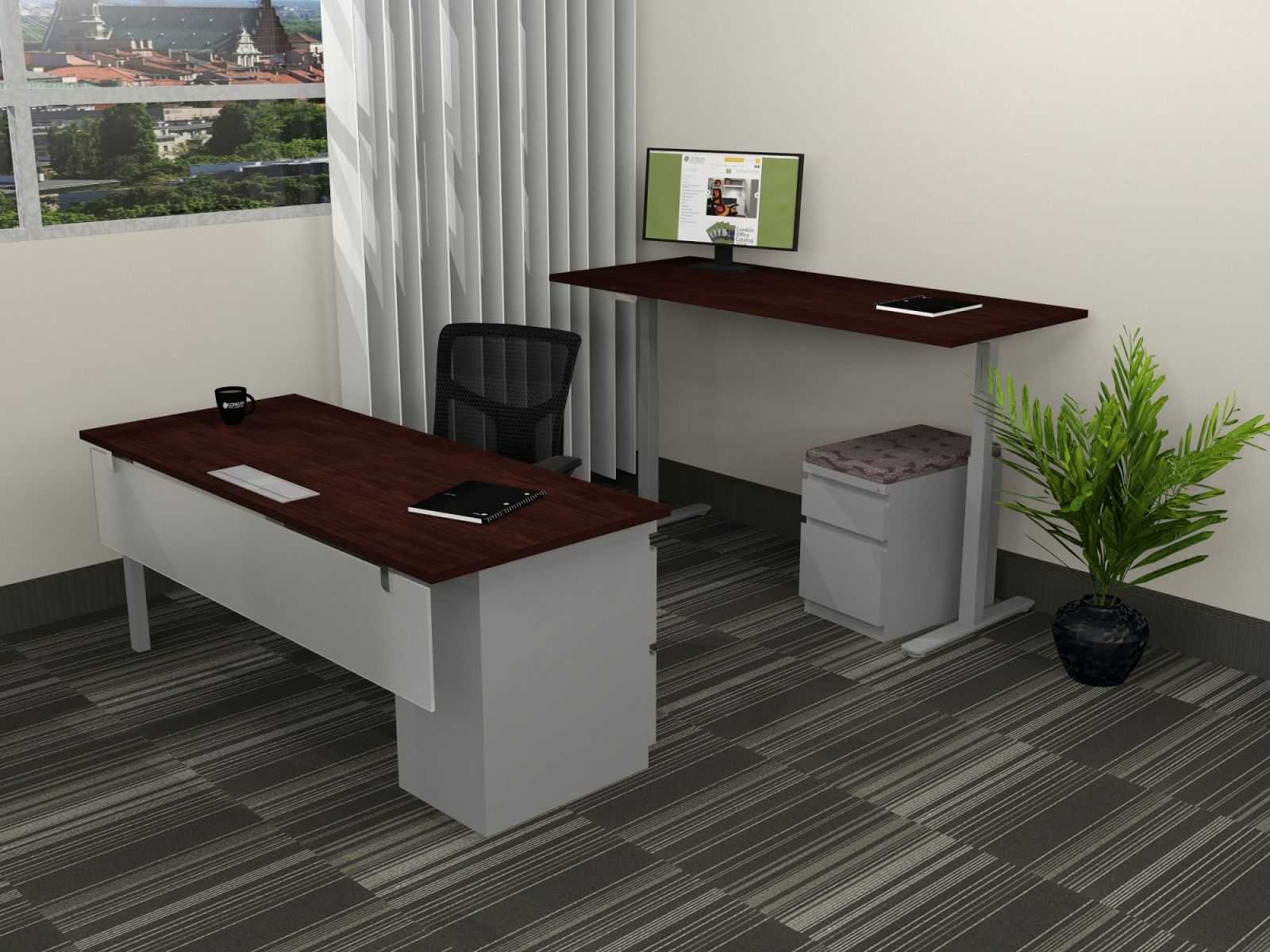 B6006 - Single Sit/Stand Height Adjustable Desk