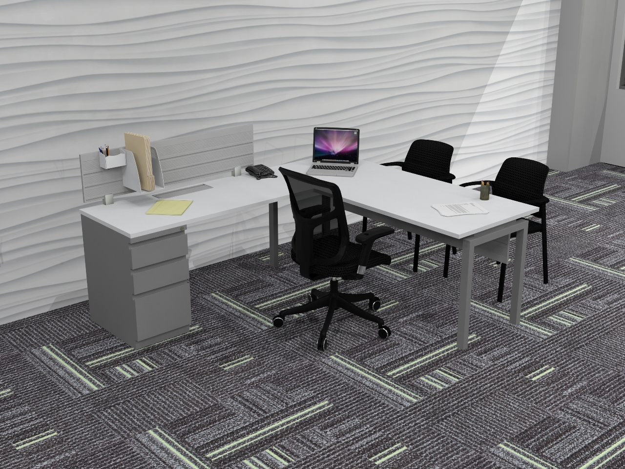 D12065 - Stretch L-Shape Private Offices