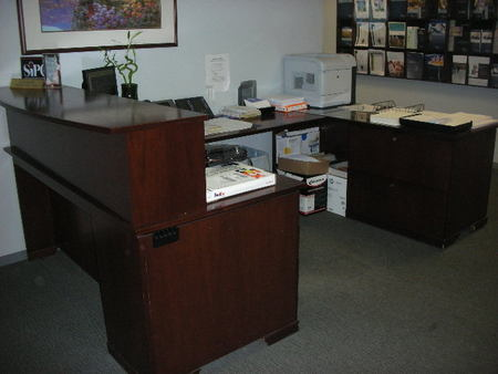 R3128   Steelcase U Shape Reception Desk