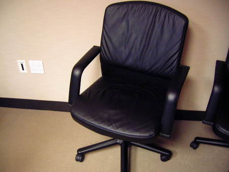 C1233   Vecta Leather Desk Chairs