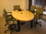 Mobile Elliptical Maple Conference Table (T173)