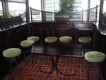 Bar area seating and tables with divider (R494)