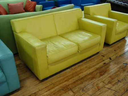 Funky Leather Reception Furniture (R483)