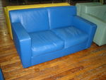 Blue Leather Sofa and Club (R488)