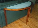 Glass Inlayed Parsons Table (R597)