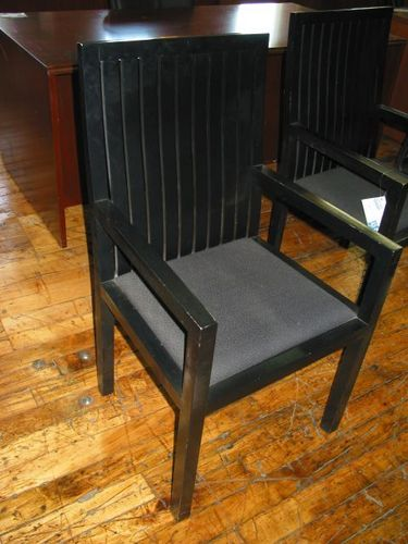 Black Wood Frame Side Chairs (C705)