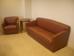 Leather Couch and matching Club Seating (R1090)