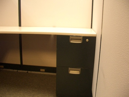 F/F Pedestal Included with Steelcase Cubicles
